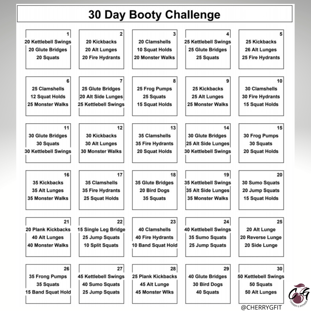 30 Days of Glute Exercises