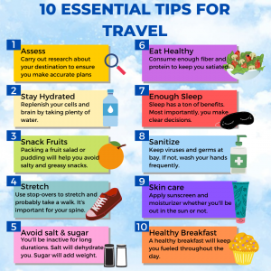 10 Essential Tips for Travel. Keep the weight off.